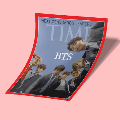 استیکر BTS Time Magazine
