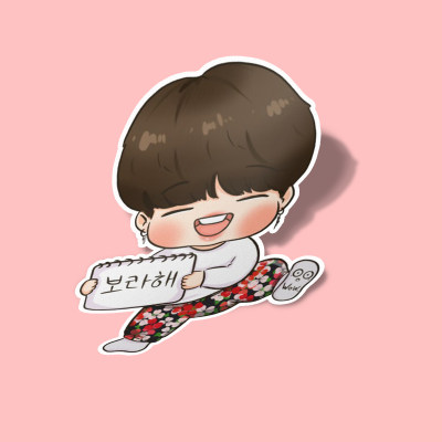 استیکر RUN BTS Jimin