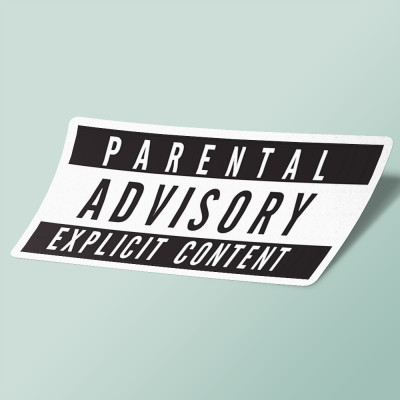استیکر Parental Advisory Explicit