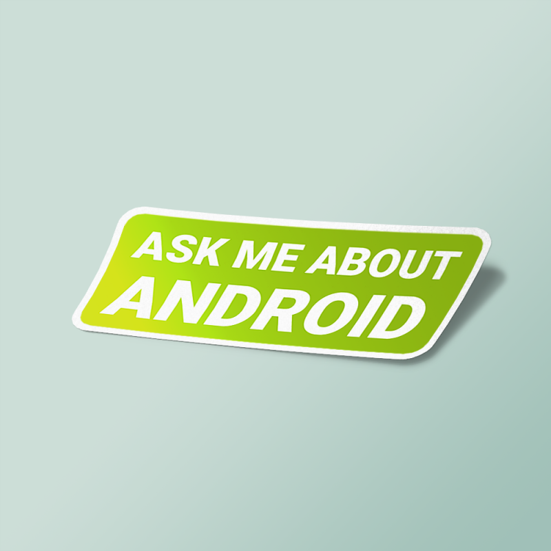 استیکر ask me about android