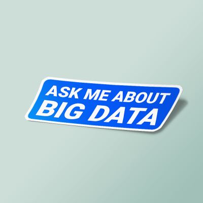 استیکر ask me about big data