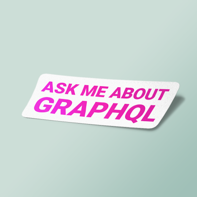 استیکر ask me about graphQL