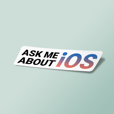 استیکر ask me about ios