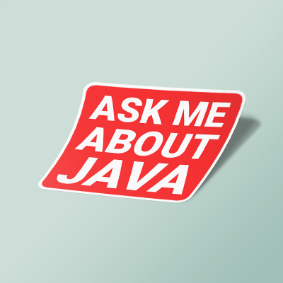 استیکر ask me about java
