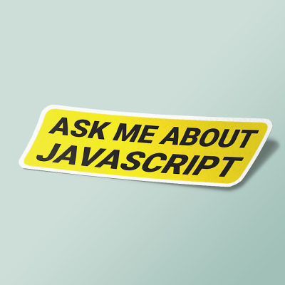 استیکر ask me about javascript