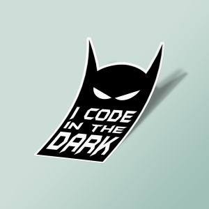 استیکر batman i code in the dark