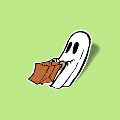 استیکر Cute Bag ghost sticker