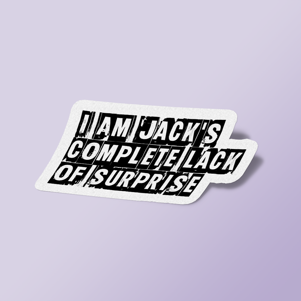 I Am Jack's Complete Lack of Surprise - Fight Club