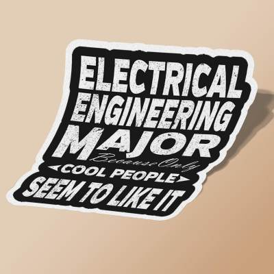 استیکر Electrical Engineering College Major