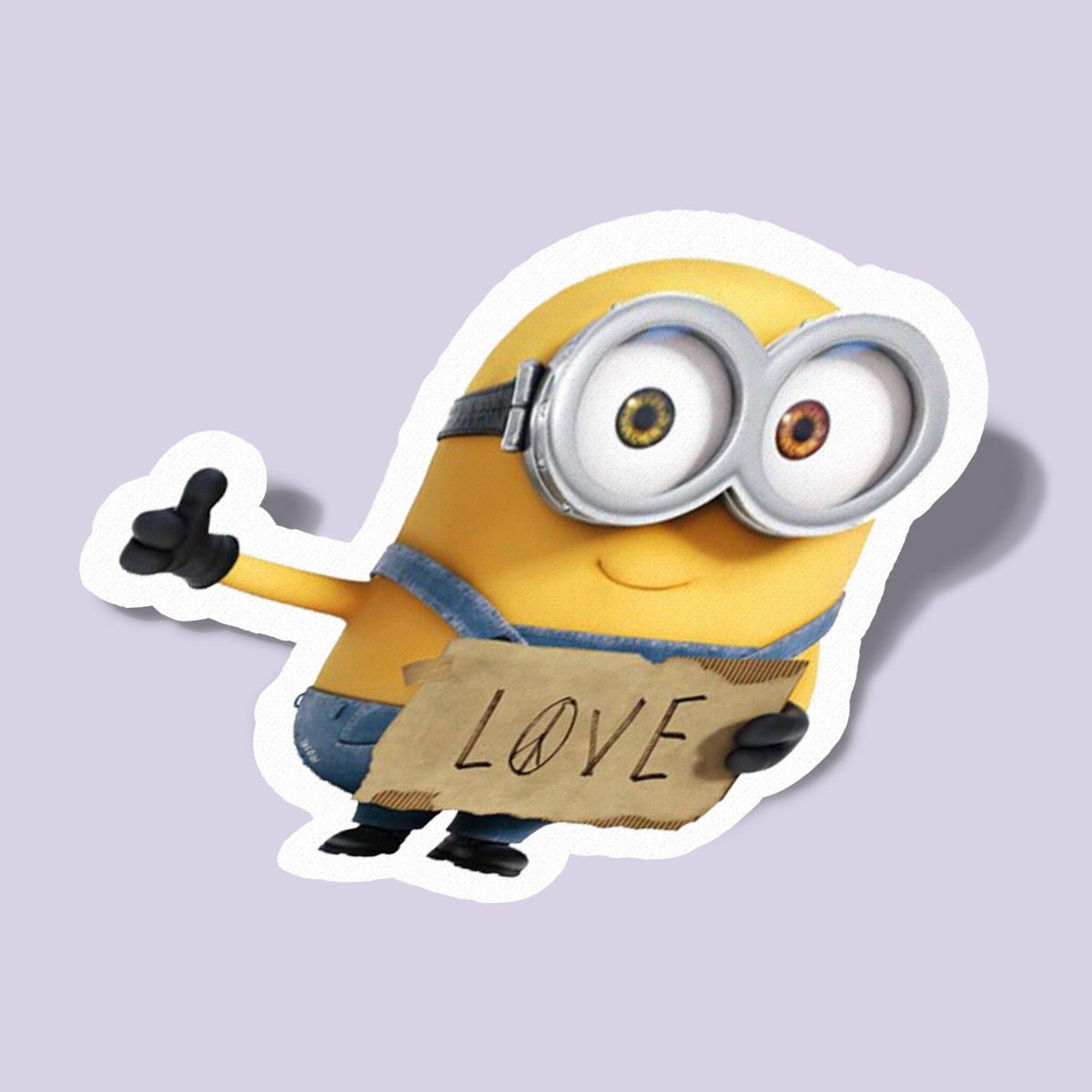 Minion with love and peace